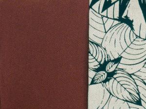 Aperçu des tissus du coussin de méditation Finjo en coton épais terracotta