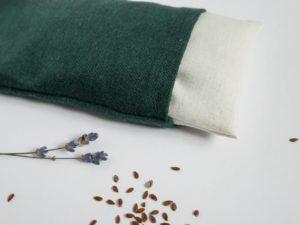Coussin relaxant pour les yeux à la lavande et aux graines de lin bio et locale - Fait main en France - Les Barbaries